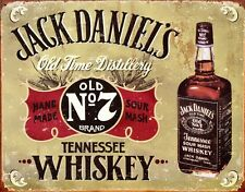 New Jack Daniels Old Time Distillery Metal Tin Sign