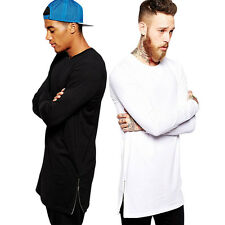 Top Fashion Design Mens Fine Cotton T shirt Long sleeve Casual Tshirts 3Color zx