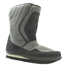Crane Sports Adult's Grey Faux Fur Lined Velcro Mid Calf Snow Winter Boots New