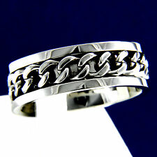 New Mens Stainless Steel Chain Engagement Wedding Anniversary Band Ring