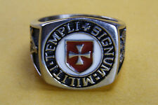 KNIGHT TEMPLAR CRUSADERS SEAL THE KNIGHT OF CHRIST CREST RING SEAL RING 010