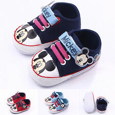 Infants Toddler Baby Unisex Boy Girls Soft Sole Shoes Slip On Crib Sneakers New
