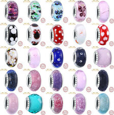 Authentic 925 sterling silver charms Lampwork Beads Fit charm Bracelet bangle L5