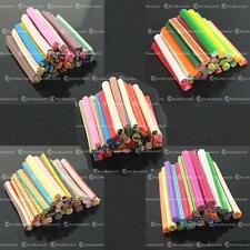 10 X 3D Nail Art Cane DIY Mixed Fimo Polymer Clay Mixde 4 Mp3 Phone Rods Sticks