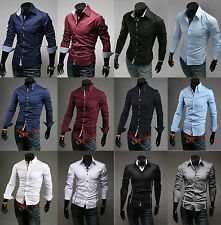 Hot Fashion Men's Awesome Stylish Formal Casual Suits Slim-Fit Dress Shirt XS-XL