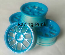Rc Car 1/10 Drift Y Spoke Rims Wheels 3mm Offset fits Tamiya HPI BLUE 12mm hex