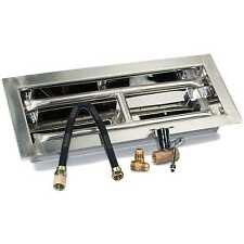 "18"", 24"", 30"", 36"", 48"" H-Burner Drop-in Stainless Steel Gas Burner Kit NG"