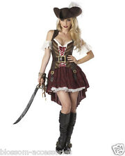Sexy Swashbuckler Deluxe Pirate Womens Fancy Dress Up Ladies Adult Costume C624