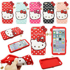 Cute Lovely Cartoon Cat Pendant Soft Silicone Case Cover For iPhone 6 Plus 5.5""