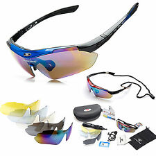 Outdoor Sports Polarized Cycling Bicycle Bike Riding Glasses Goggle UV400 5 Lens