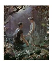 J. Simmons Hermia And Lysander Mini Print 25x30cm