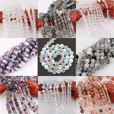 1Bunch Crystal Round Loose Spacer Beads Necklace Bracelet Colorful 4/6/8/10/12mm