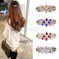 New Fashion crystal Rhinestone Flower Hair Barrette Clip Hairpin Women Jewelry
