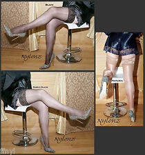 3 pairs NYLONZ Shine Hold Ups (Hold Up Stockings) MIXED COLOUR PACK