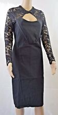 """Bnwt Tempest """"Dolly"""" Pencil Dress In Black With Beaded Collar - All Sizes! (R89)"""