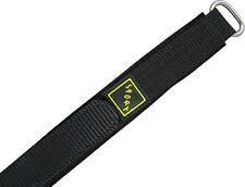 Wrist watch bands Nylon Klettband black Watch band Nylon Velcro SPORT 18 mm