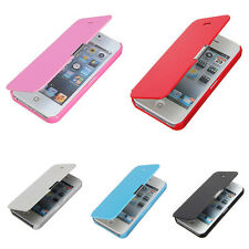 Fashion Flip Pu Leather Hard Skin Pouch Case Cover For Apple iPhone Phone Skins