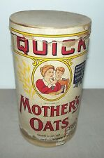 VINTAGE QUICK MOTHERS OATS CARDBOARD CANNISTER 3 LBS POUNDS QUAKER OATS COMPANY