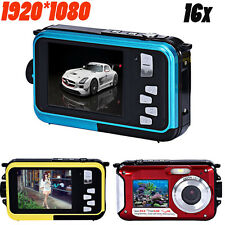 Double Screen Waterproof Camera 24MP 16x Digital Zoom 1920*1080 CMOS Dive Camera