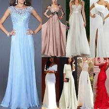 Formal Evening Ball Gown Party Prom Bridesmaid Maix Dress Size6 8 10 12 14 16 18