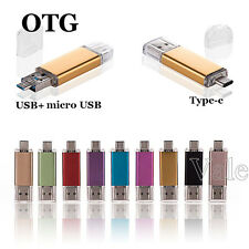 16/32GB OTG External Storage 3.1 Type C+MICRO USB Flash Memory Stick U Disk LOT
