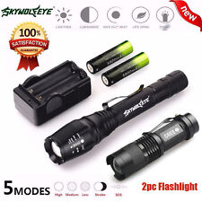 Focus Zoomable 4000 Lumen 5 Modes CREE XML T6 LED Torch Lamp Light 18650&Charger