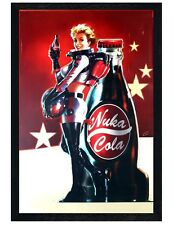 Fallout 4 Black Wooden Framed Nuka Cola Poster Maxi Poster 61x91.5cm