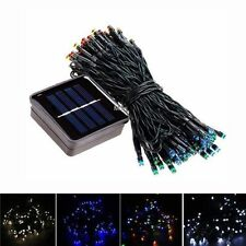 100 Led Solar Battery Power Fairy Light String Lamp #M Xmas Party Outdoor Garden