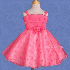 Beaded Embroideries Flower Girl Bridesmaid Party Birthday Dress Age 1-5 Yrs #004