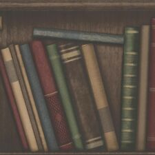 Oxford Atheneum Library Books Wallpaper by Beacon House Multi 2604-21229