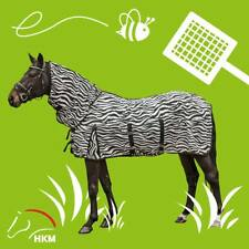 HKM Zebra Print Horse Protection Fly Rug / Lightweight Turnout Combo Neck | SALE