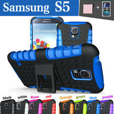 Stand TPU Case Cover For Samsung Galaxy S5 i9600 Heavy Duty Tough Shockproof