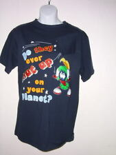 MARVIN  MARTIAN  SHUT UP T SHIRT navy pic S or M