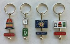Key West Classy Key Fob, Swivel Designs on a Rod with Ring. Choose your Design!