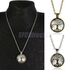 Fashion Mens Womens Tree of Life Charm Pendant Chain Necklace Family Jewelry