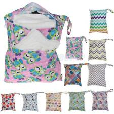 Waterproof Dual Zipper Pockets Bag Baby Cloth Diaper Nappy Wet Dry Swim Tote Owl