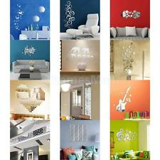 Removable Mirror Wall Room Office Decals Home Decor Vinyl Art Mural Sticker DIY