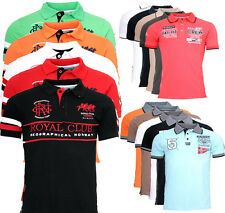 Geographical Norway Men's Polo Shirt Pique Summer Short Sleeve Polo Club T-Shirt