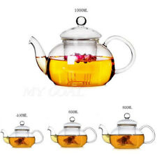 Heat Resistant Clear Glass Teapot With Infuser Coffee Tea Herbal Pot 400-1000ML