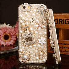 Bling full pearl Diamante Shaped Diamond Stones Crystaly Hard Phone Case Cover