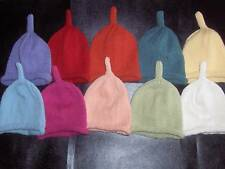 Hand Knitted Cashmere & Wool Baby Hats 12-24 months - age 1-2