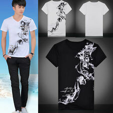 New Mens Tops Casual shirts Slim Fit Crew neck T-shirt Short Sleeve Muscle Tee T