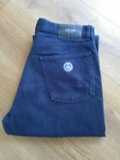 MENS MOSCHINO NAVY BLUE CORDRUOY CORD STYLE JEANS W36 L31  36x31