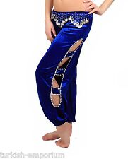 Velvet Belly Dance Harem Pants Belly Dancing Costume Hip Scarf Belt Beaded Coins