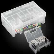 New Hard Plastic Portable AAA AA C Battery Case Holder Storage Box With Handle