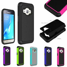 Dual Shockproof Rugged Armor Hard Protective Case Cover Samsung Galaxy J1 2016