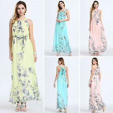 Women Sexy Boho Maxi Floral Evening Party Cocktail Long Ball Gown Summer Dress