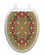 Medallion L Toilet Tattoo  Removable Reusable Bathroom Christmas Decoration
