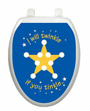 Twinkle Tinkle Star Taining Toilet Tattoo Removable Reusable Bathroom Decoration