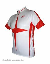 New Barbedo England Cycling jersey white red UV protection tech dry msrp:$60